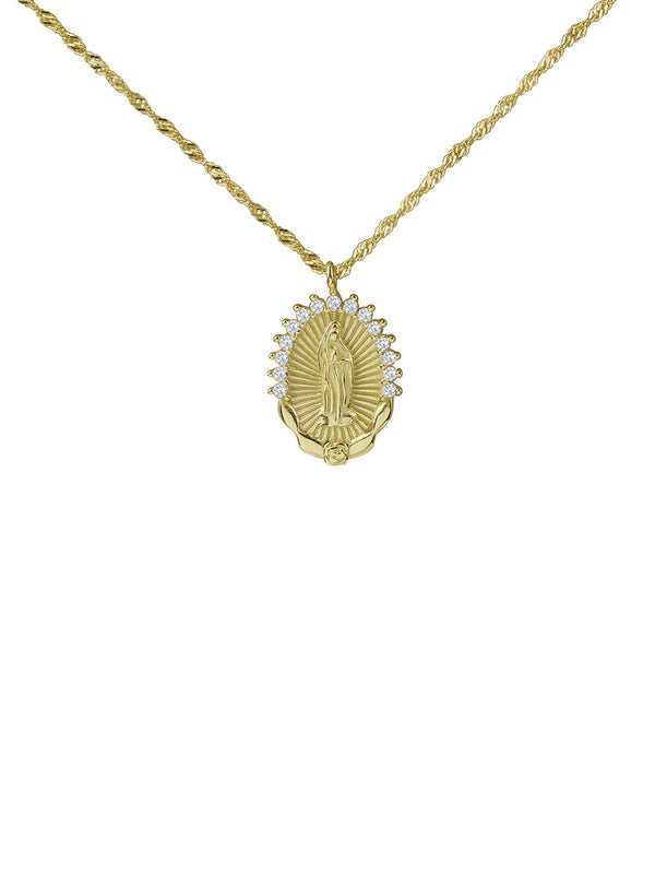 THE PAVE' GUADALUPE SINGLE ROSE NECKLACE (CHAPTER II BY GREG YÜNA X THE M JEWELERS)