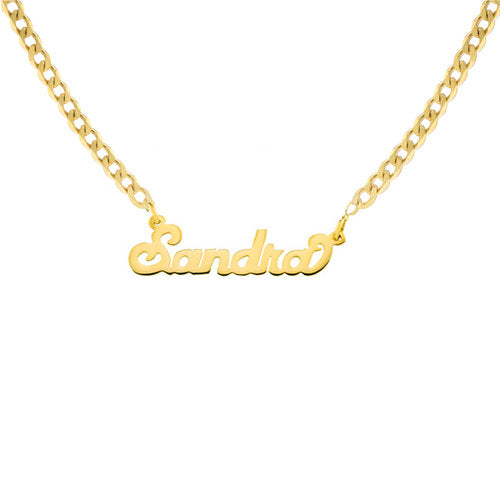THE NAMEPLATE NECKLACE (CURB CHAIN)