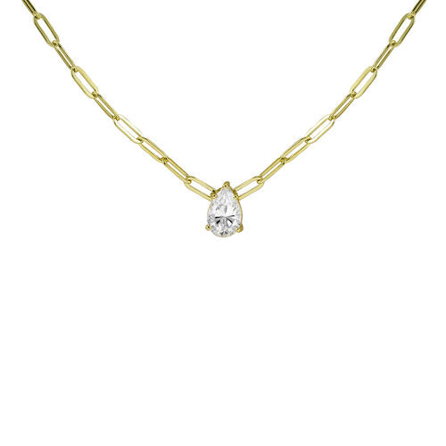 THE PEAR SHAPE REDA LINK NECKLACE