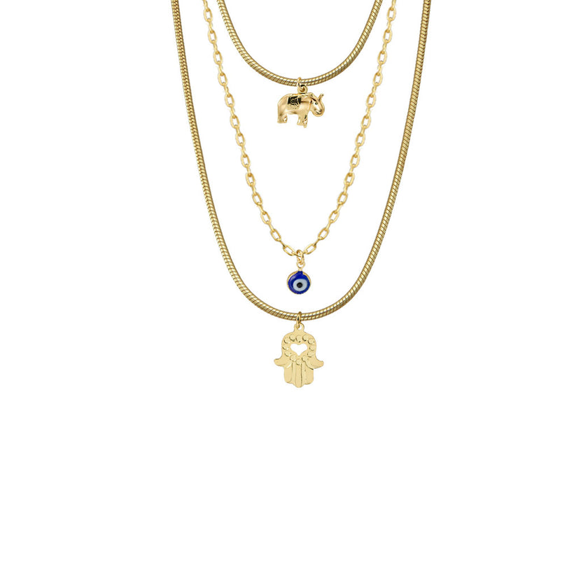 THE FULL EVIL EYE LAYER NECKLACE