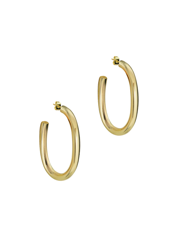 THE TUBED ABBIE HOOP EARRINGS