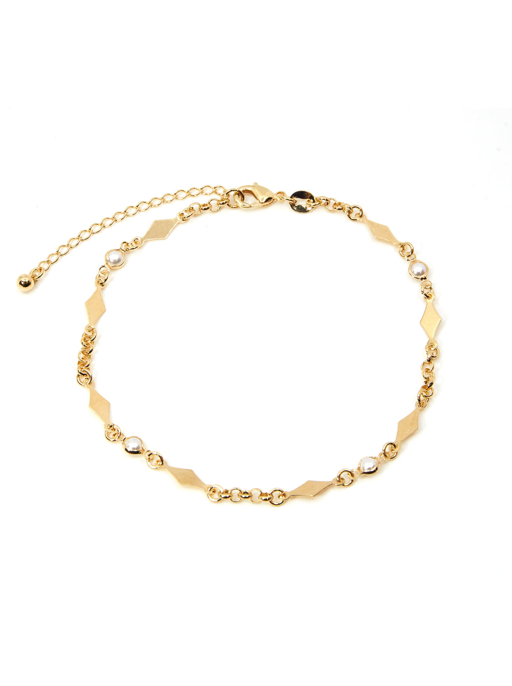 THE PEARL RHOMBUS ANKLET
