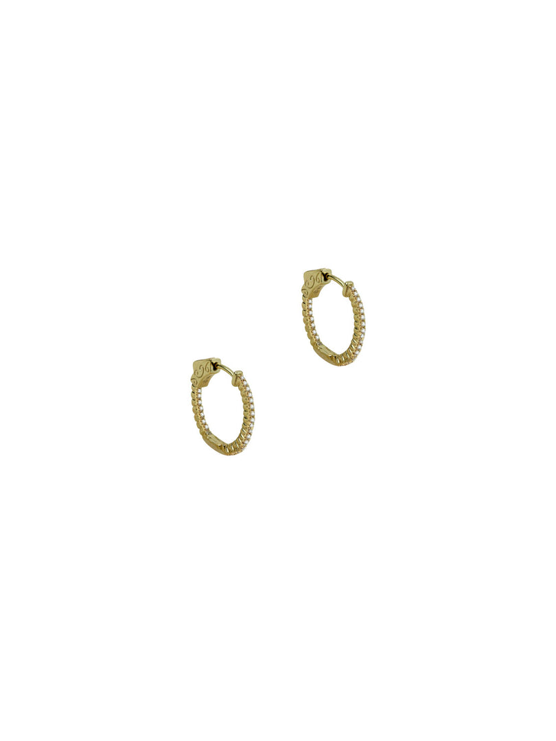 THE TINY TIA PAVE HOOP EARRINGS
