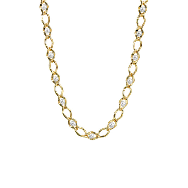 THE PEARL LINK COLLAR NECKLACE
