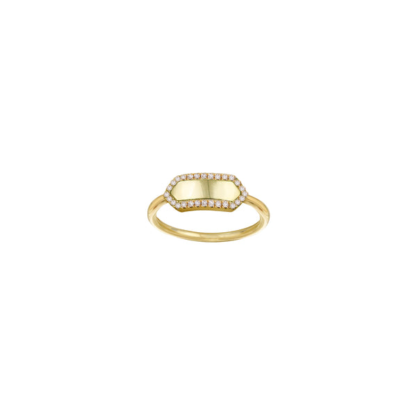 THE PAVE' SLIM SIGNET RING