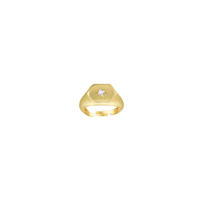 THE STAR STONE PINKY SIGNET RING