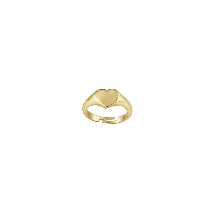 THE TINY HEART PINKY SIGNET RING