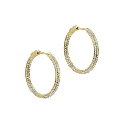 THE PAVE' RAVELLO HOOPS (MEDIUM)