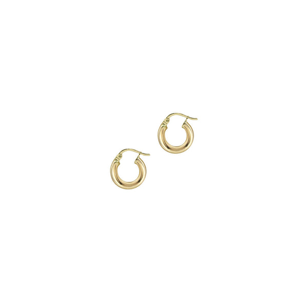 THE 14KT GOLD SMALL RAVELLO HOOPS