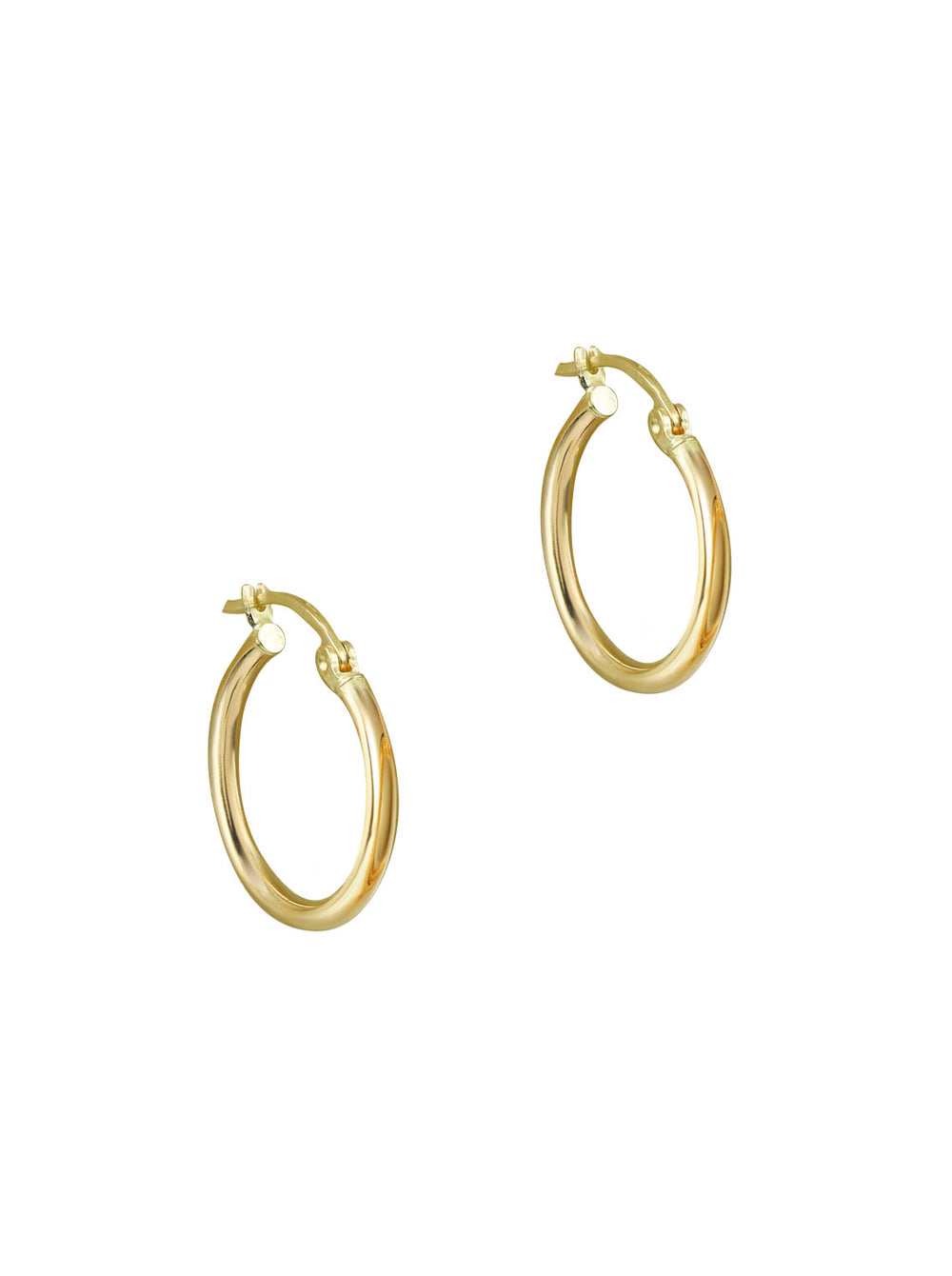 THE ESSENTIAL 10KT GOLD HUGGIE HOOP EARRINGS (MEDIUM)