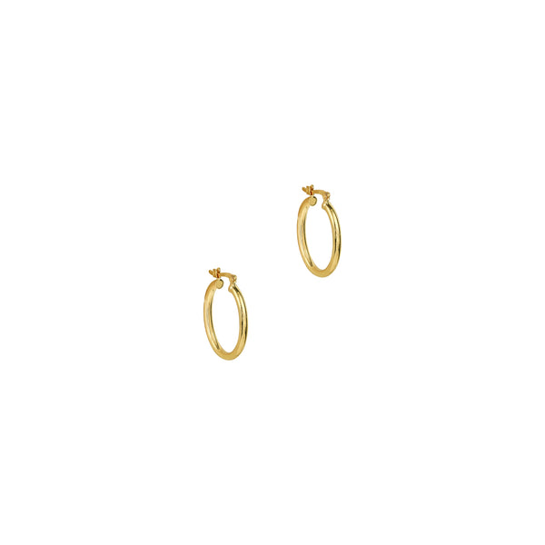 THE MID SIZE OVAL HOOP EARRINGS