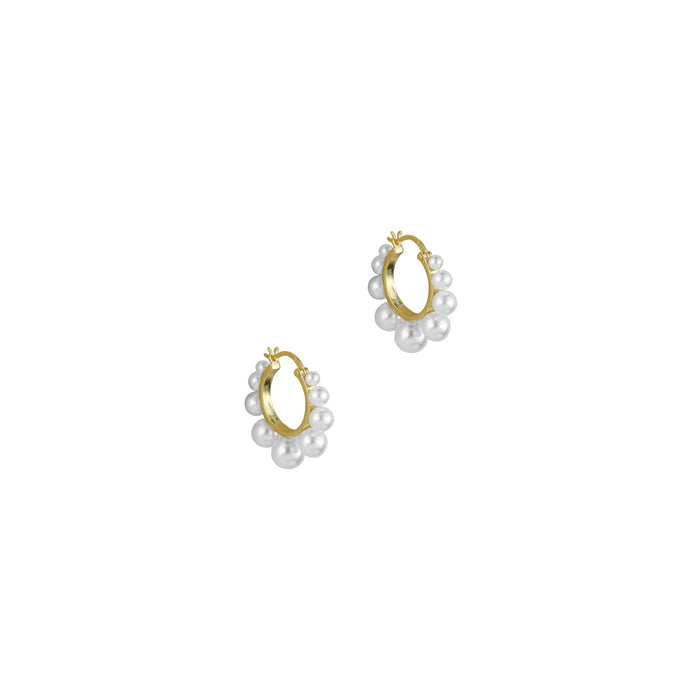 THE SMALL CLEA PEARL HOOPS