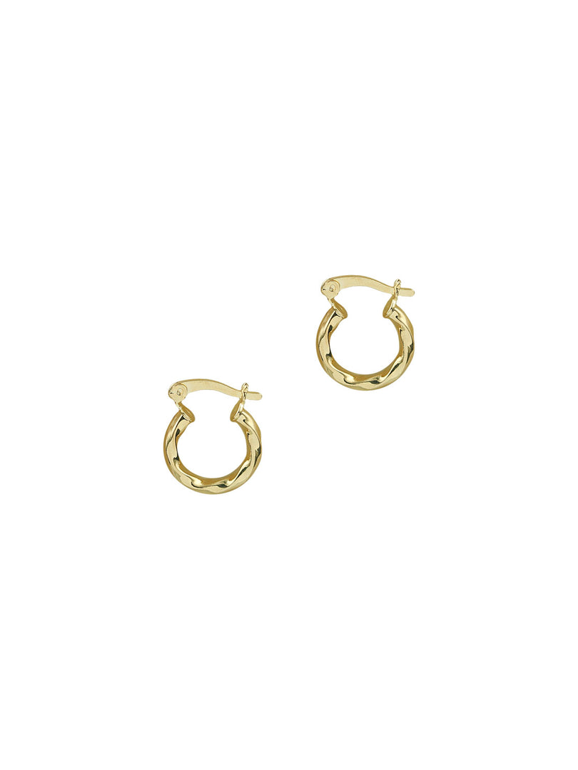 THE TWISTED MINI HOOP EARRINGS