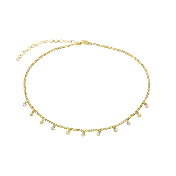 THE CURB DAINTY BEZEL CHOKER NECKLACE