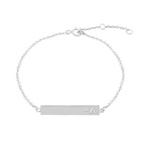 THE SINGLE INITIAL CUTOUT DIAMOND BRACELET