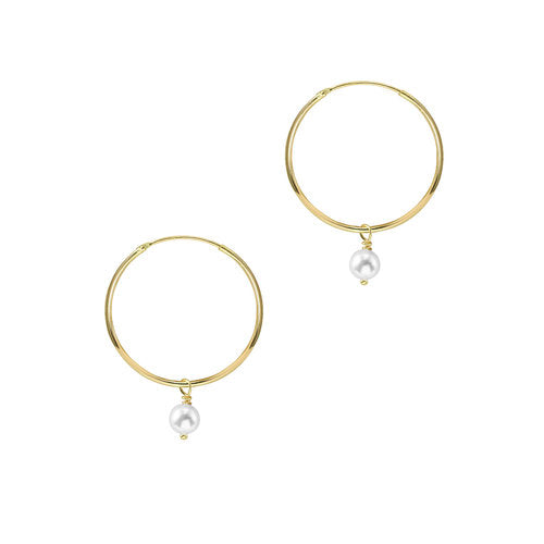 THE HANGING LIA PEARL EARRINGS