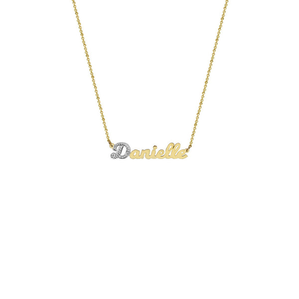 THE SINGLE LETTER CUT NAMEPLATE NECKLACE