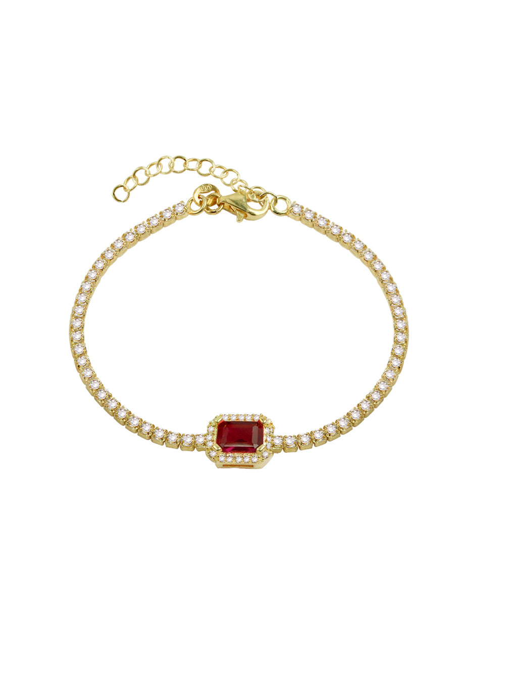 THE RADIANT HALO TENNIS BRACELET (CHAPTER II BY GREG YÜNA X THE M JEWELERS)