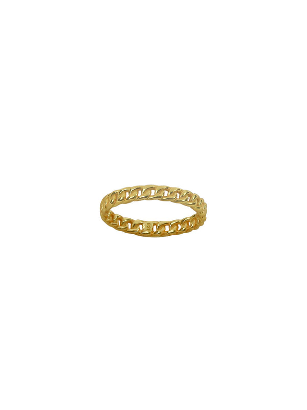 THE THIN CUBAN LINK RING (CHAPTER II BY GREG YÜNA X THE M JEWELERS