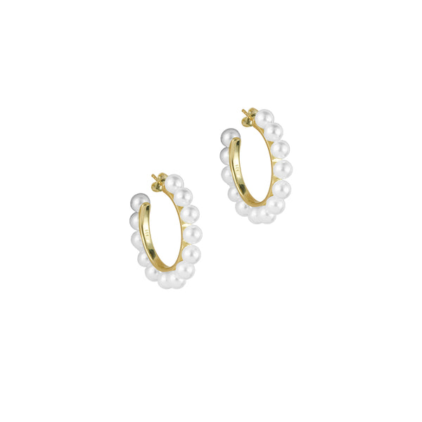 THE NINI PEARL HOOP EARRINGS