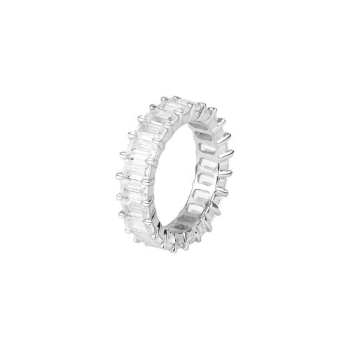THE EMERALD CUT PAVE' RING