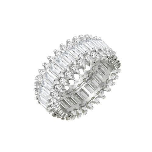 THE THREE ROW ETERNITY BAND