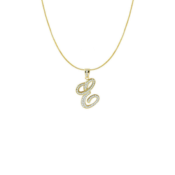 THE ICED OUT SCRIPT INITIAL NECKLACE