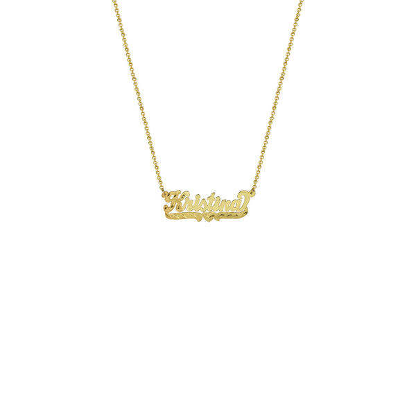 THE SINGLE HEART CUT NAMEPLATE NECKLACE