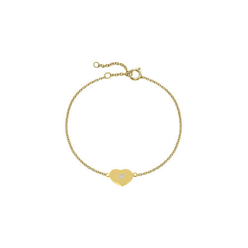 THE SCRIPT HEART BRACELET