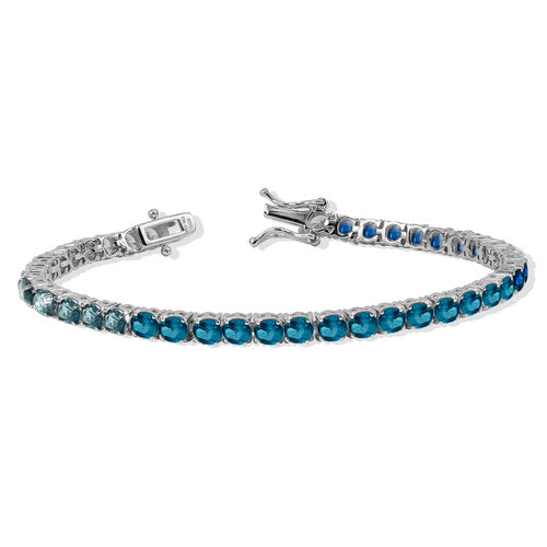 THE BLUE GRADIENT TENNIS BRACELET