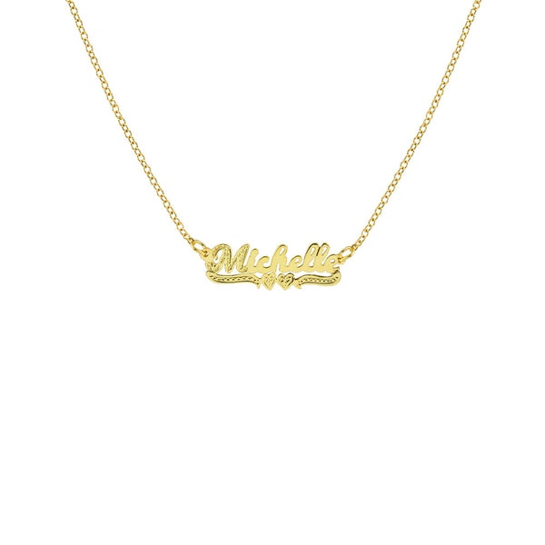 THE MINI CLASSIC NAMEPLATE NECKLACE