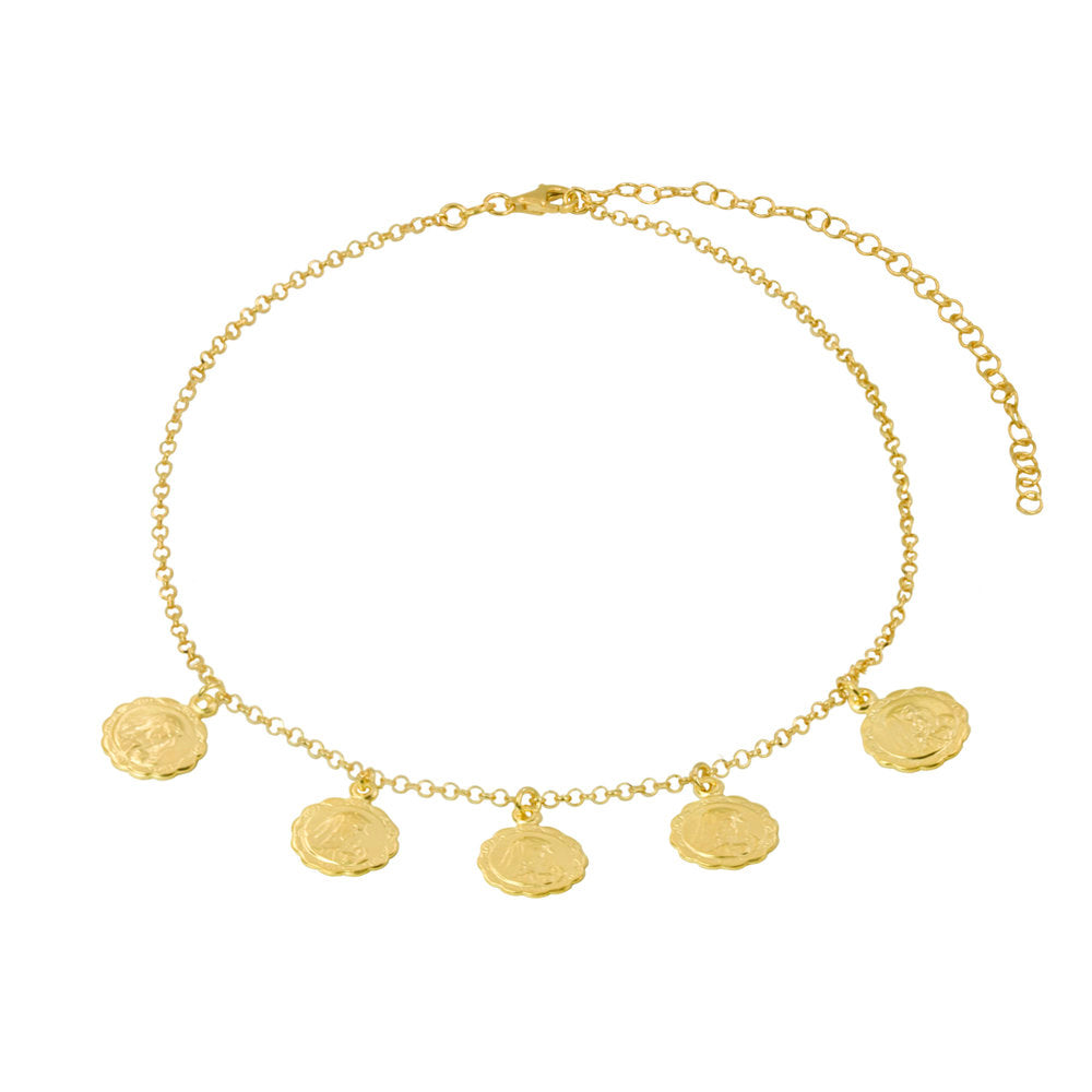 THE MARY MEDALLION CHOKER NECKLACE