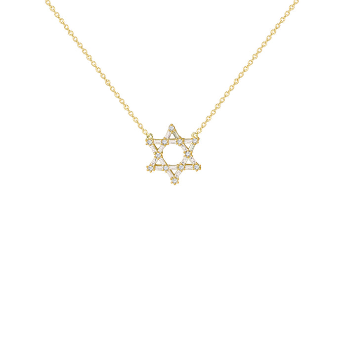 THE BAGUETTE STAR OF DAVID PENDANT NECKLACE (CHAPTER II BY GREG YÜNA X THE M JEWELERS)