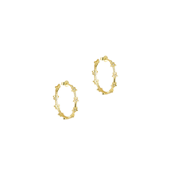 THE PAVE' STAR HOOP EARRINGS