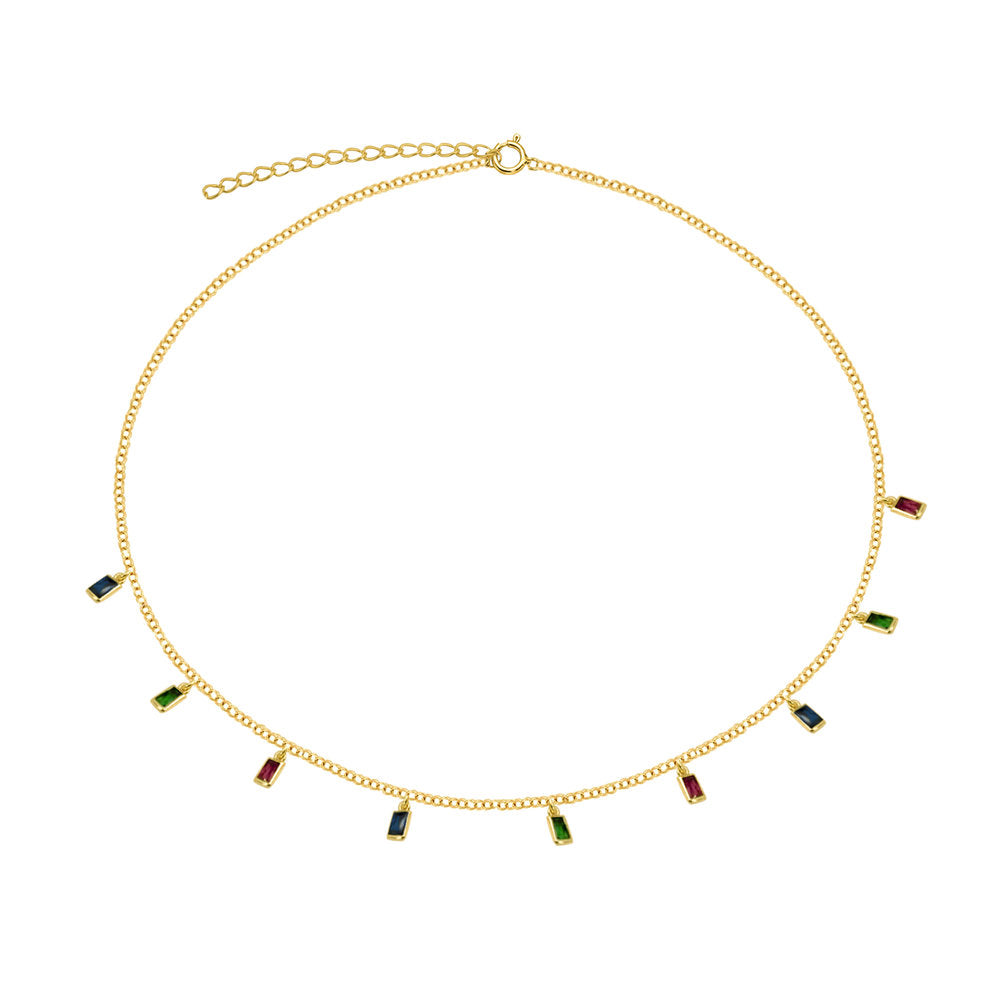 THE HANGING RAINBOW CHOKER NECKLACE