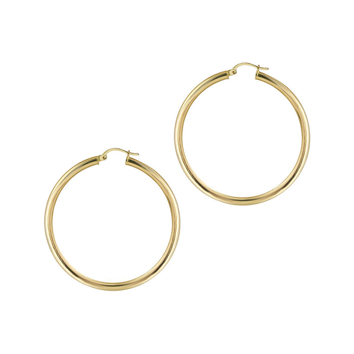THE 14KT GOLD LARGE ESSENTIAL HOOPS
