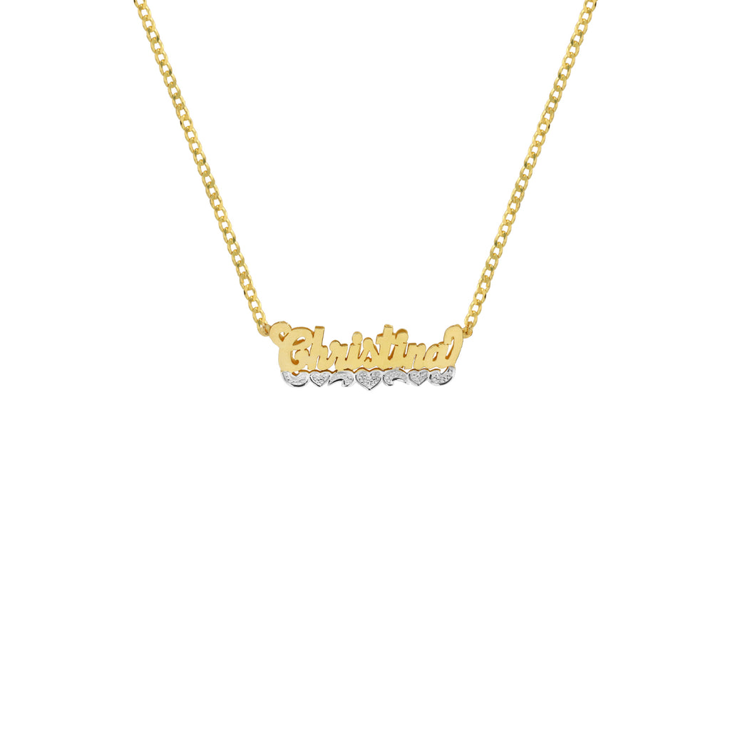 THE CLASSIC CUT HEART NAMEPLATE NECKLACE