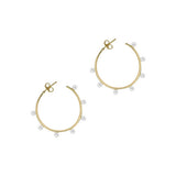 THE MULTI PEARL HOOP EARRINGS