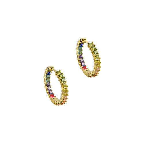 THE PRINCESS CUT RAINBOW HOOPS