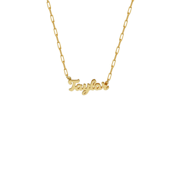 THE REDA LINK DOUBLE PLATE NAMEPLATE NECKLACE