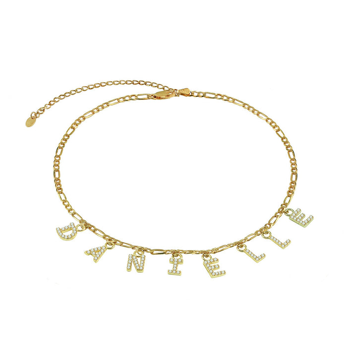 THE FIGARO HANGING BLOCK CHOKER NECKLACE (ICED OUT)