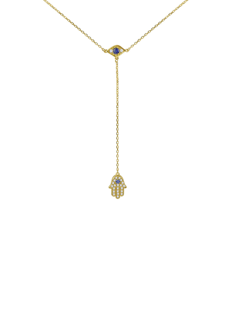 THE HAMSA EVIL EYE DROP NECKLACE (CHAPTER II BY GREG YÜNA X THE M JEWELERS)