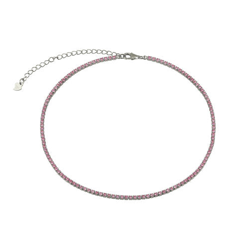 THE PINK THIN VALDEZ CHOKER