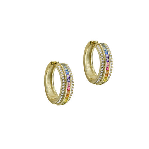 THE THREE ROW RAINBOW EARRING