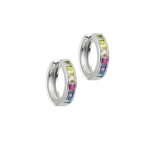 THE RAINBOW HUGGIE EARRING
