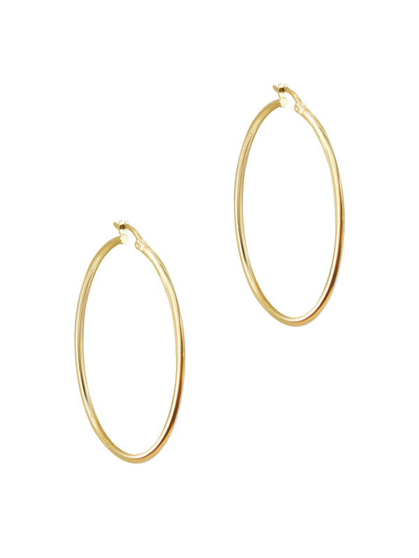 THE ESSENTIAL 10KT GOLD HUGGIE HOOP EARRINGS (LARGE)