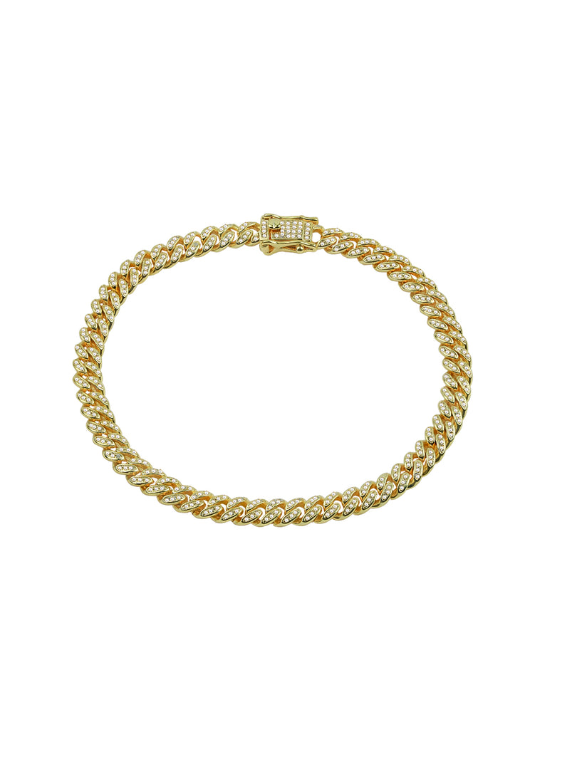 THE ICED OUT CUBAN LINK ANKLET