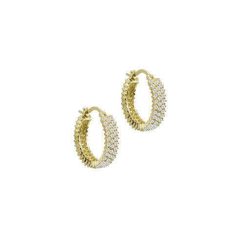 THE THREE ROW PAVE' HOOPS
