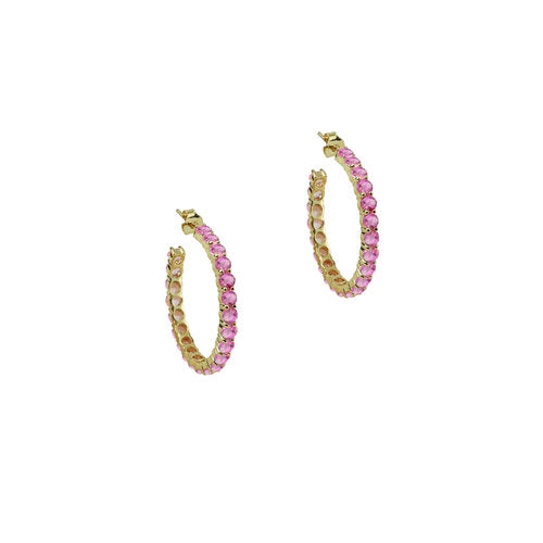 THE PINK OPEN HOOP EARRINGS