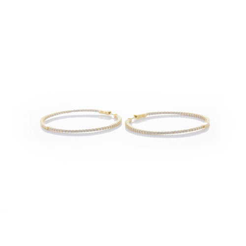 THE THIN PAVE' HOOP EARRING